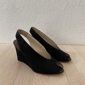 céline suede wedges (flawless condition)